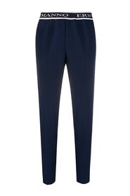 Logo band trousers