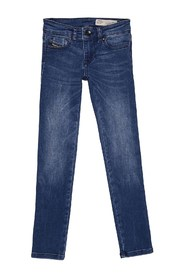 DIESEL SKINZEE-LOW-J 00J3D1 JEANS Girl DENIM MEDIUM BLUE