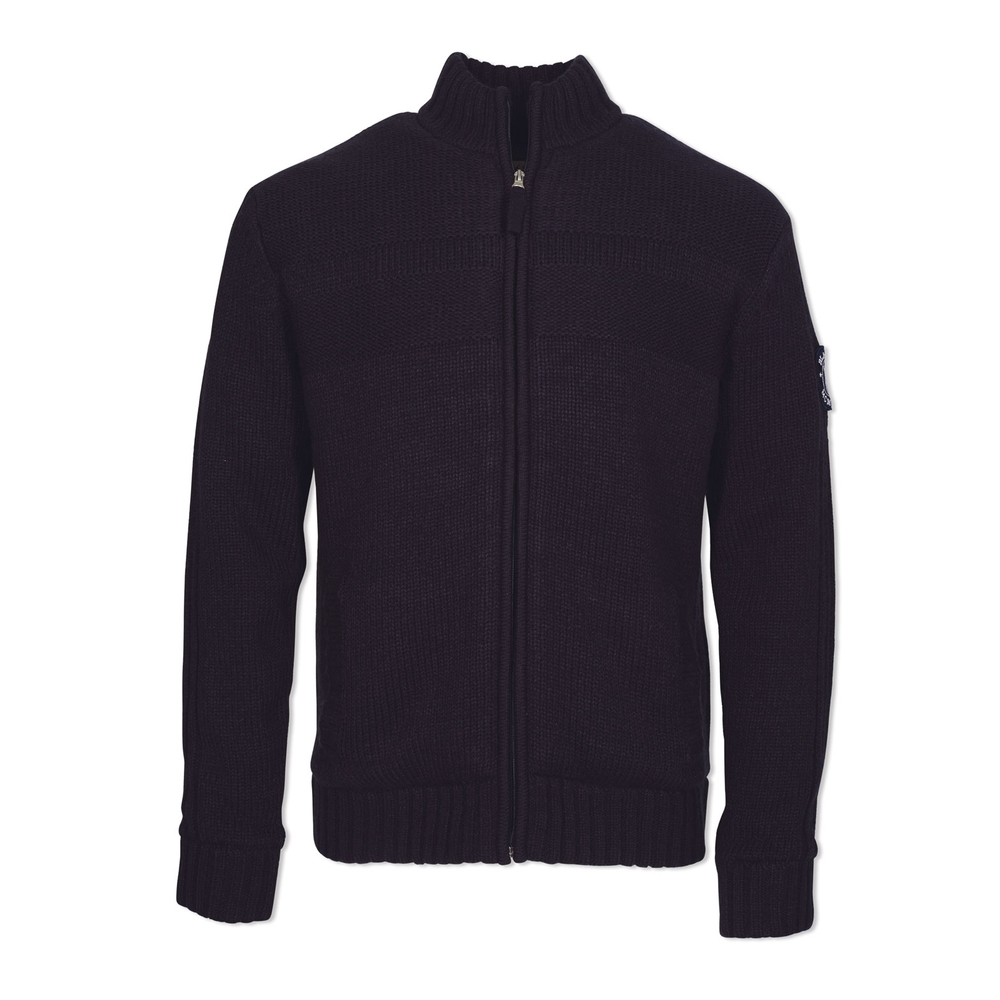 Sort blå cardigan, Zip