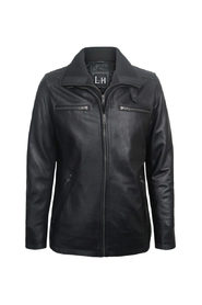Leather Parka jacket Fitted