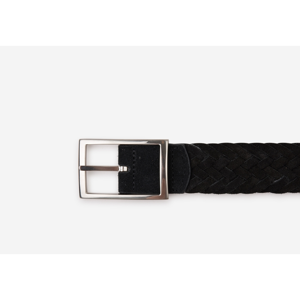 BLACK Reversible Braided Belt | Santa Eulalia | Riemen | Heren accessoires