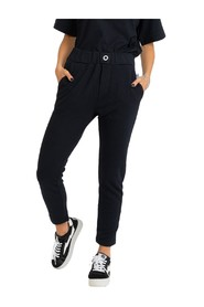 Black joggers with back lettering pocket
