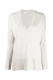 V NECK SWEATER WITH SEQUIN EMBROIDERY