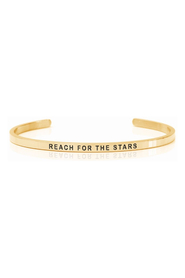 Armring med tekst - REACH FOR THE STARS - 7284
