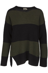 Twist & Tango Niki Sweater Forest Stripe Grön/Svart
