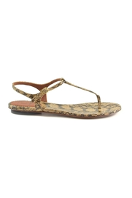 Leather Flat Thong Sandals
