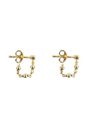 Plain Beads Chain Earring Gold Plated - Betty Bogaers