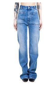 Front Pockets Straight Jeans