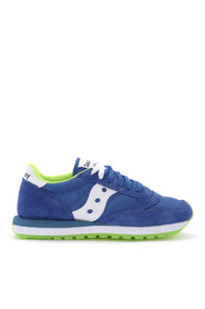 Jazz bluette and lime green suede and fabric sneaker