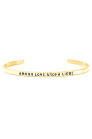 Armring med tekst - AMOUR LOVE AROHA LIEBE - 7215