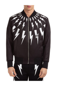 Outerwear jacket reversibile graffiti & thunderbolt