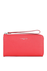 Adèle wallet in red saffiano leather