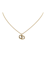 Pre-owned Gold-Tone Pendant Necklace