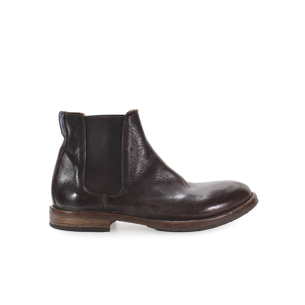 MOMA BROWN LEATHER CHELSEA BOOTS