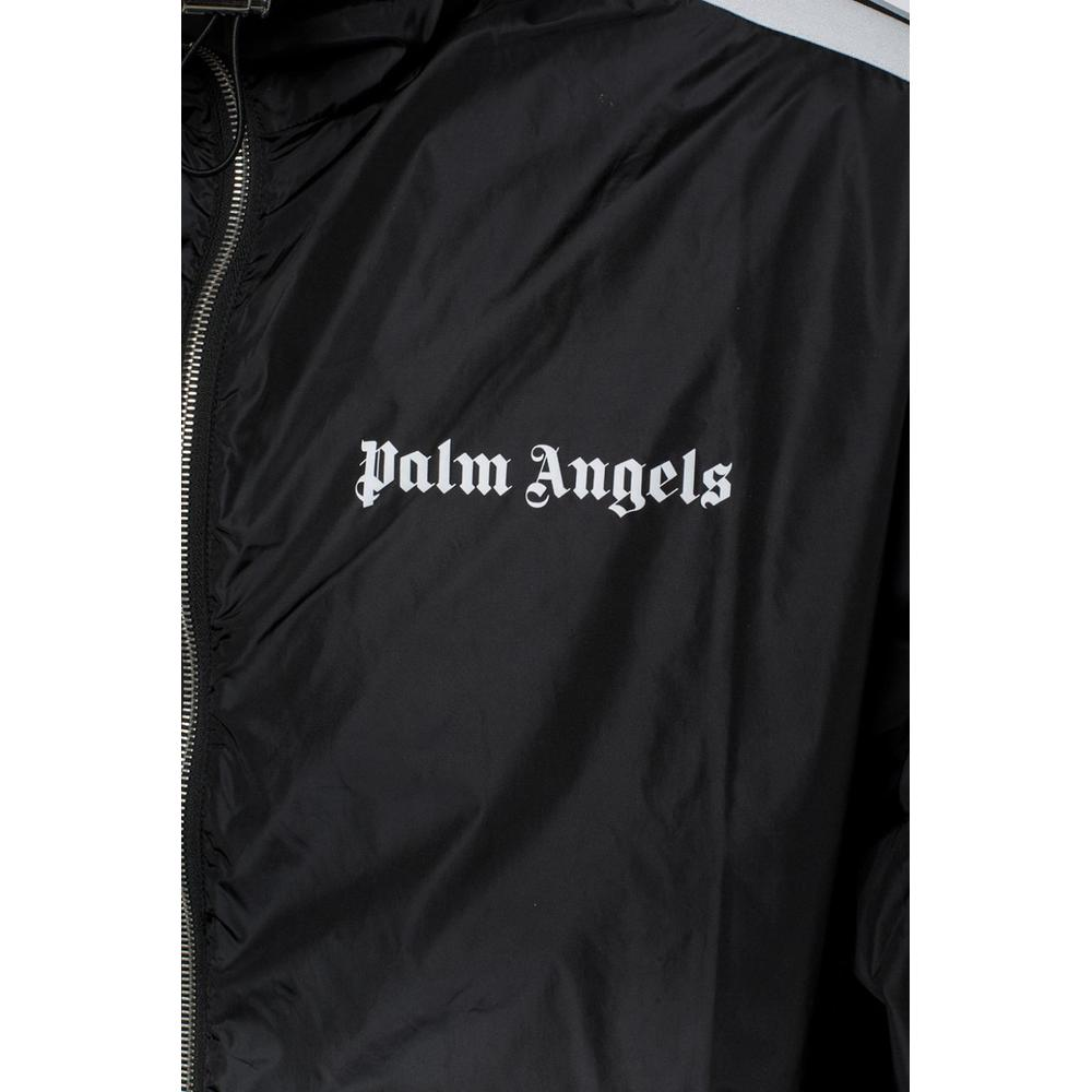 BLACK Hooded jacket with logo  Palm Angels  Sommarjackor