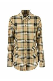 LAPWING - Button-down Collar Vintage Check Stretch  Shirt