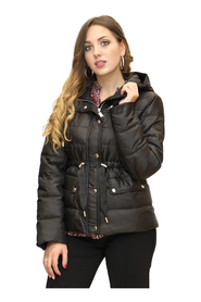 Down Jacket with Rubberized Logo