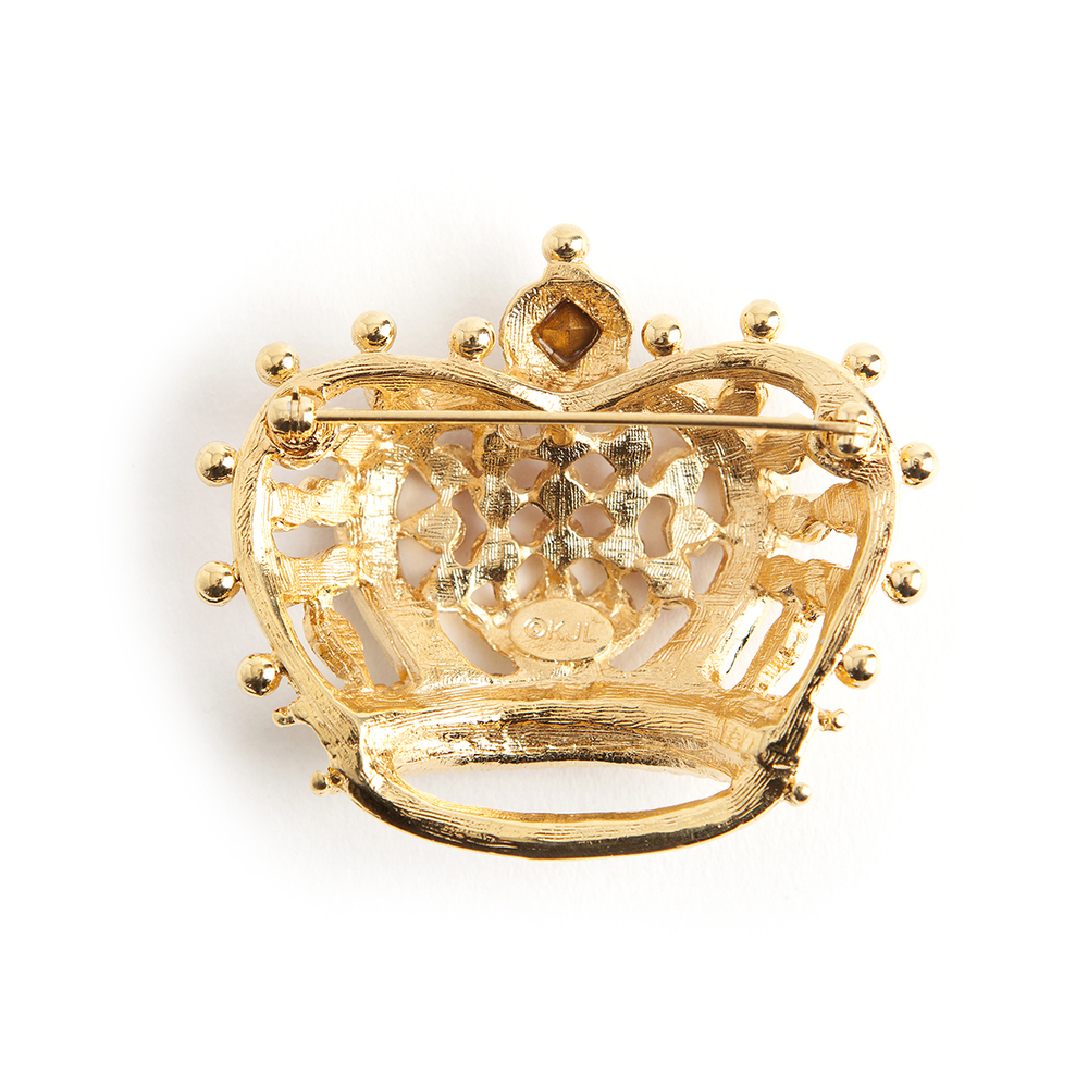Kenneth Jay Lane Vintage Pre-owned red Royal crown brooche Kenneth Jay Lane Vintage