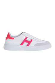 H365 sneaker in leather and suede with 'h' gel