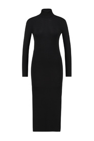 Britney long sleeve turtle neck knitted midi dress