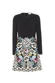 DRESS WITH EMBROIDERED FLOWERS M