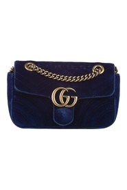 Mini Marmont Matelasse Velvet Crossbody Bag