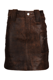 Mini skirt in vintage leather