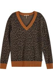 V-neck knit with pattern