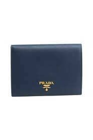 Pre-owned Pass 1M1412 Saffiano Metal Card Case