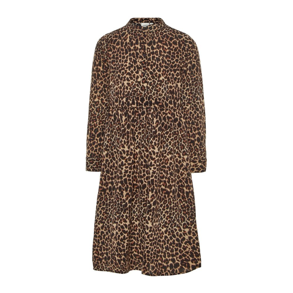 Dress long leopard printed
