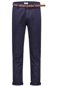 Dstrezzed Chino Pant with belt Dark navy