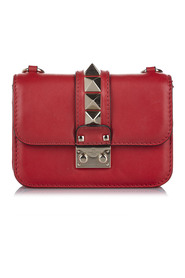 Rockstud Glam Lock Leather Crossbody Bag   ITALY