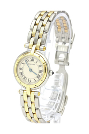 Pre-owned Panthere Round Quartz Stainless Women's Watch 166920