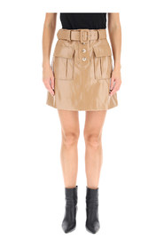 Skirt eco leather