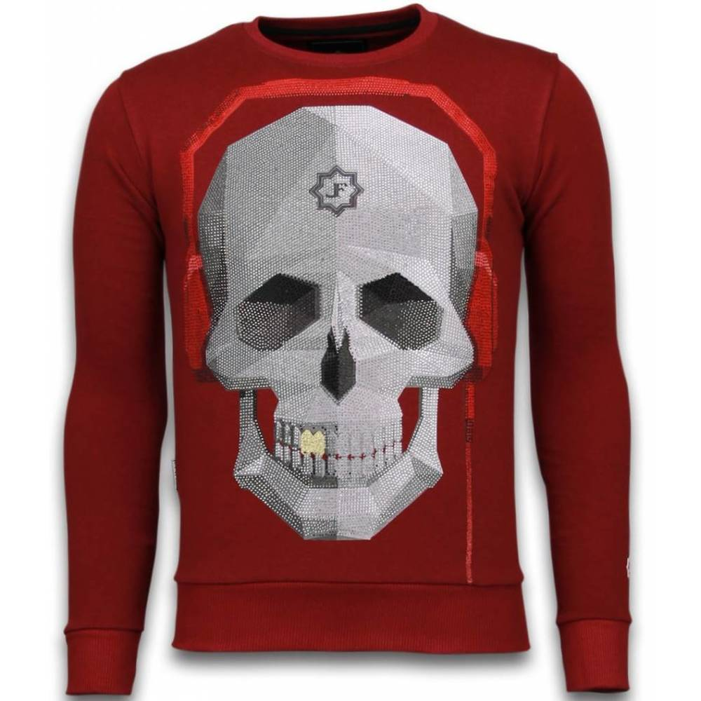 Skull Beat - Rhinestone Sweater