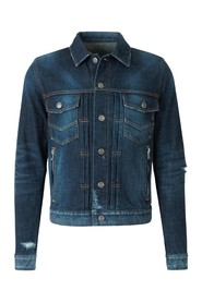 Distressed-Effect Denim Jacket