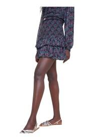 Elastic skirt with flounces