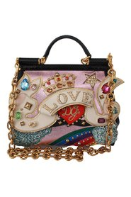 Crystal LOVE Crown Python SICILY Bag