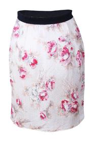 Floral Print Thread Pull Hem Skirt -Pre Owned Condition Very Good