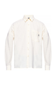 Logo-patched shirt
