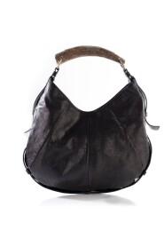 Burnt Mombasa Deer Horn Handle Bag