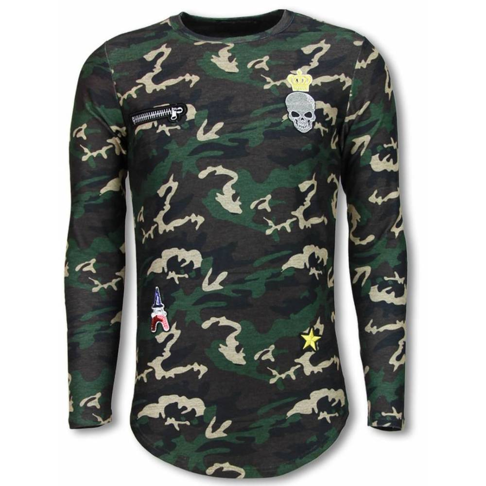 King of Army Shirt- Long Fit Sweater