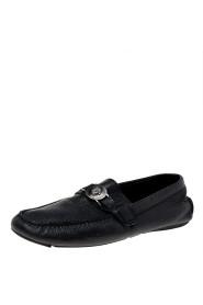 Leather Medusa Slip On Loafers Size 44