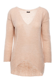 Lightweight deep V-neck sweater