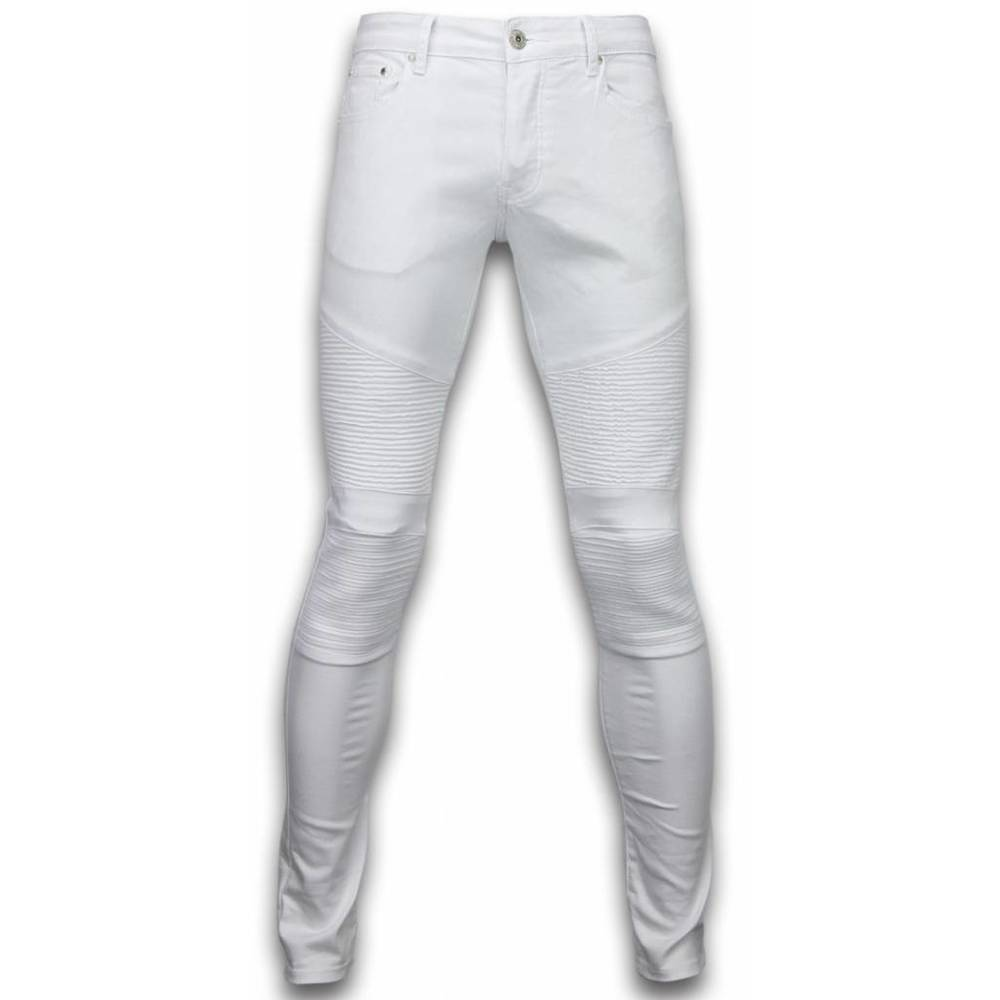 Exclusieve Ripped Jeans - Slim Fit Biker Jeans Basic Ripped