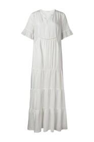 Maxi A-line mix dress