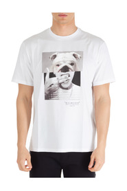 Short sleeve t-shirt crew neckline jumper Bulldog-man