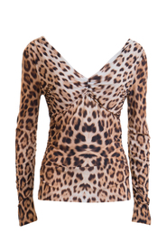 Leopard printed long sleeved T-shirt