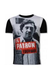 El Patron Escobar - Digital Rhinestone T-shirt