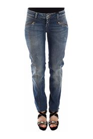 Slim Jeans Denim Pants Straight Stretch